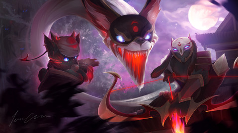 Blood Moon Kindred and Yuumi