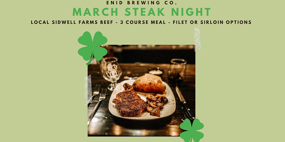 March Local Beef Steak Night
