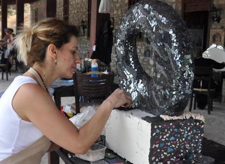 Üç boyutlu mozaik eserler yaptılar!