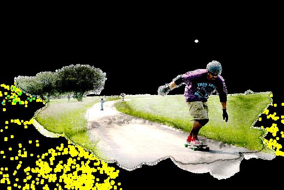 Watercolored Longboarder