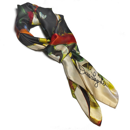 tied charmeuse silk scarf made in italy named hope