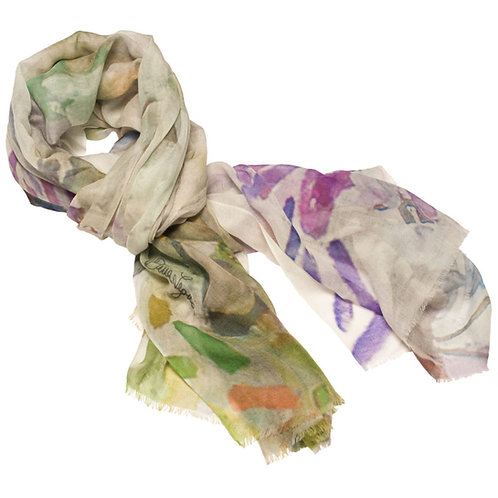 tied cashmere scarf made in italy named blushing beauty