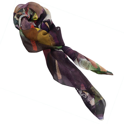 tied chiffon silk scarf made in italy named seduction