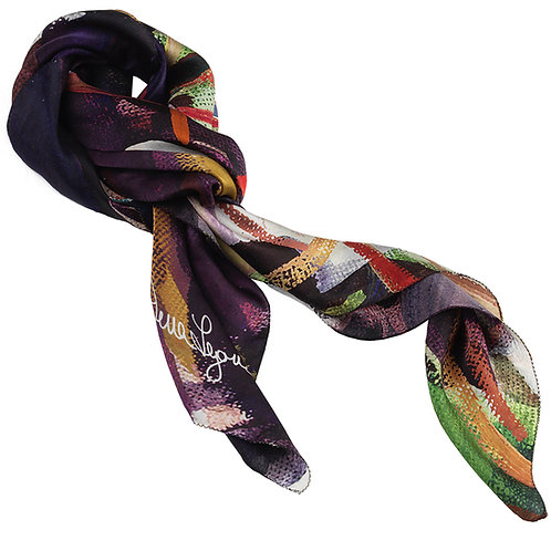 tied charmeuse silk scarf made in italy named seduction