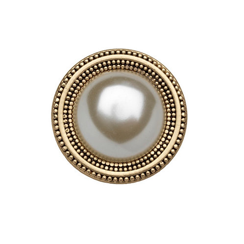 magnetic golden pin decorated with a pearl adornment