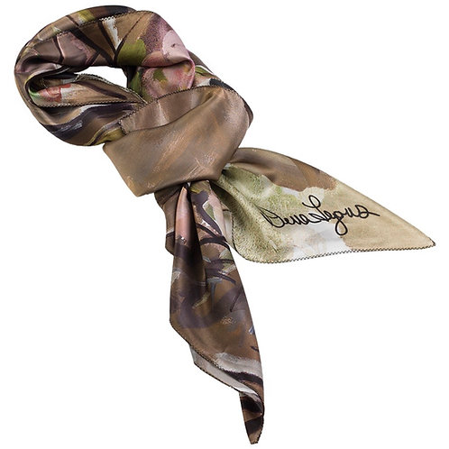 tied charmeuse silk scarf made in italy named momentum