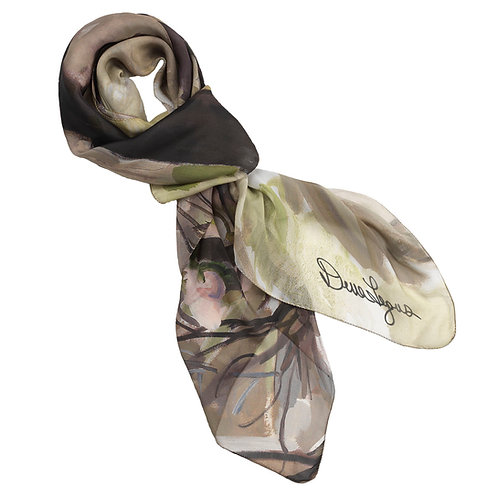 tied georgette silk scarf made in italy named momentum