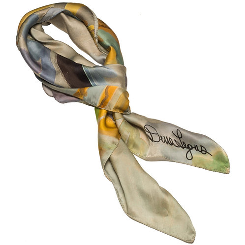 tied charmeuse silk scarf made in italy named jubilant