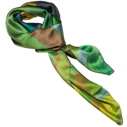 tied charmeuse silk scarf made in italy named self portrait