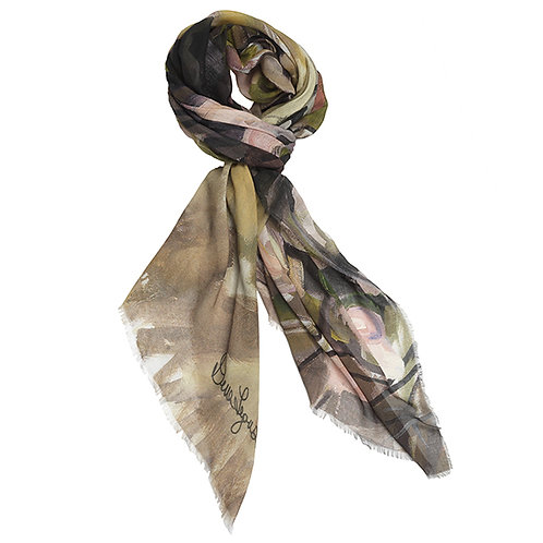 tied large cashmere modal scarf made in italy named momentum