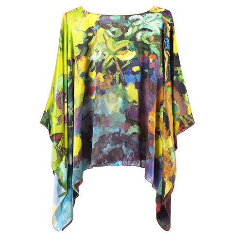 front of silk poncho made in italy named starry eyed