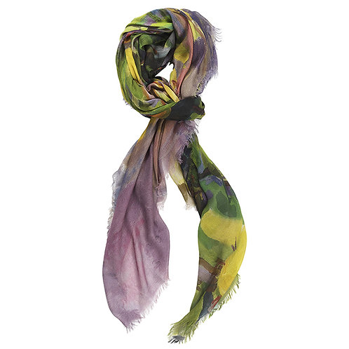 tied cashmere modal scarf made in italy named giving tree