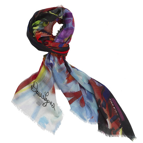 tied cashmere modal scarf made in italy named fiery maple
