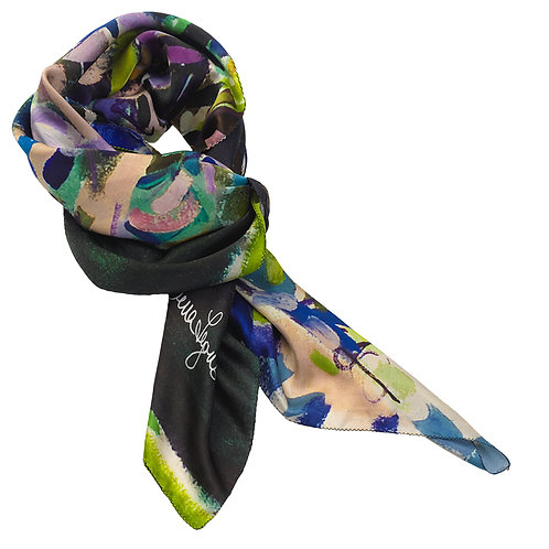 tied charmeuse silk scarf made in italy named eden