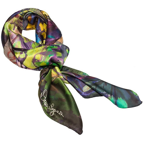 tied charmeuse silk scarf made in italy named david