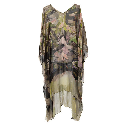 front of georgette silk caftan made in italy named momentum