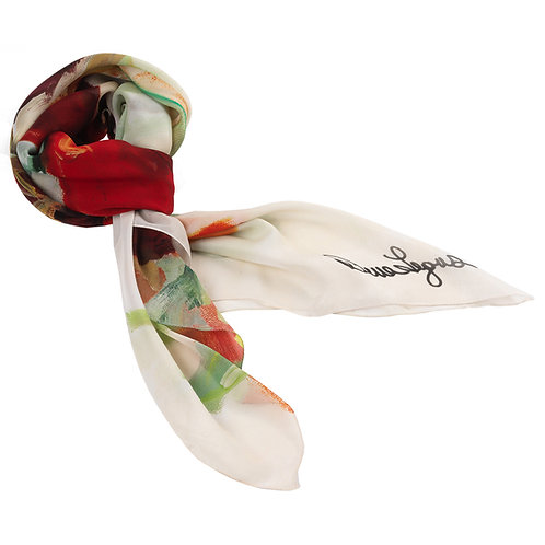 tied georgette silk scarf made in italy named freedom