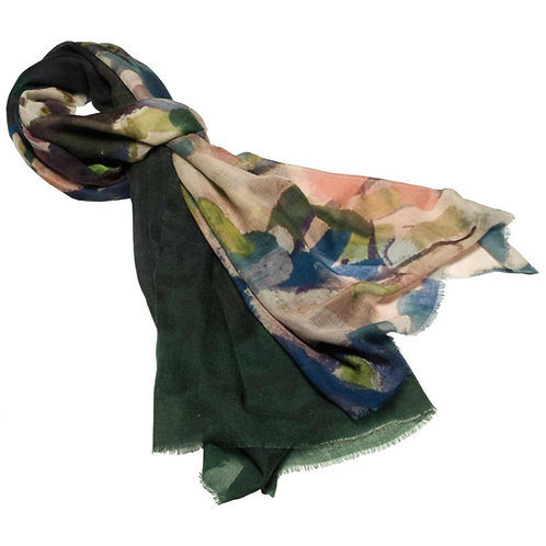 tied cashmere scarf made in italy named cherry blossoms