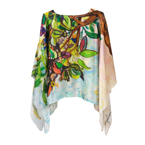 front of silk poncho made in italy named girl from ipanema