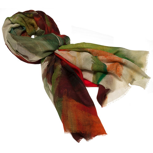 tied cashmere scarf made in italy named freedom