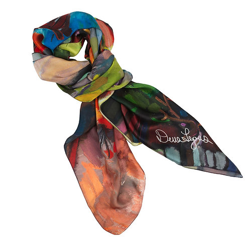 tied charmeuse silk scarf made in italy named pocahontas
