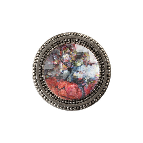 magnetic scarf pin with floral imagery