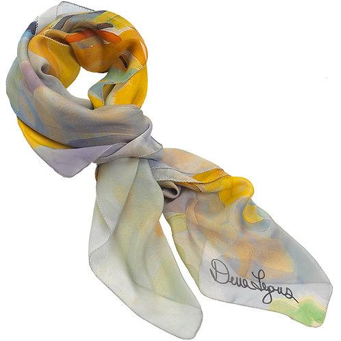 tied chiffon silk scarf made in italy named jubilant