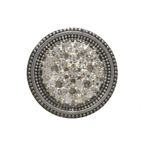 Bling sparkle rhinestone silver colored magnetic scarf pin