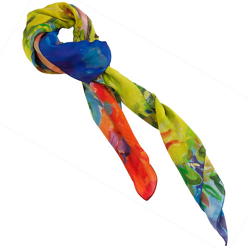 tied chiffon silk scarf made in italy named confidence