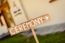 This way to the wedding ceremony!