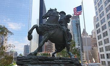 America's Response Monument, Artist Douwe Blumberg  Ground Zero, New York City, NY, USA.
