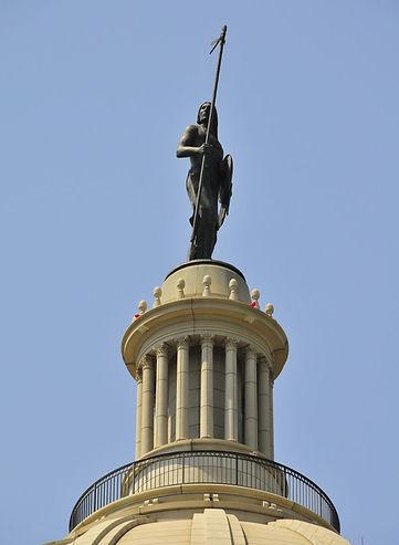 The Guardian, Artist Enoch Kelly Haney  Oklahoma State Capital Building Dome, Oklahoma State Capital Complex, Oklahoma City, OK, USA.