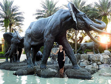 Audubon Elephants, Artist Jocelyn Russell  Audubon Zoo, New Orleans. LA, USA.