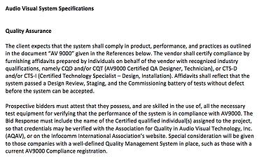 aqav | RFP Boilerplate - Standards Spec