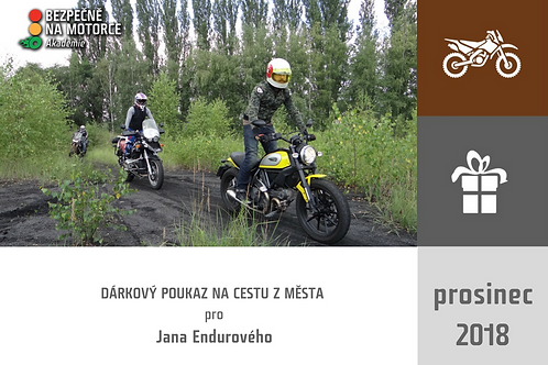 """DARČEKOVÝ POUKAZ - """"Cesta z mesta"""" pre cestovných enduristov"""