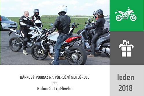 """DÁRKOVÝ POUKAZ - """"Půlroční silniční motoškola"""""""