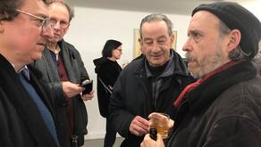 Paris gallerist Youri Vinci and Artists Pol Pierard and Jacques Lizène in Liège