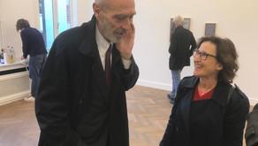 Walter Swennen and NY Gallerist Nicole Klagsbrun in Gallery Sofie Van de Velde Antwerp