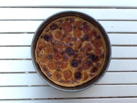 De nieuwe abrikozen taart
