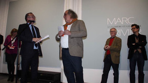 Receiving the Grand Prix Photographie Ouverte in the Musée de la photographie in Charleroi 2017