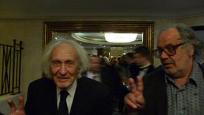 With William Klein in London Park Lane Hilton at the Sony World Photography Awards 2014