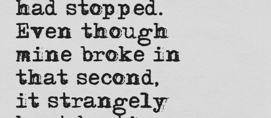 A broken, beating heart