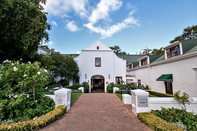 The warm & welcoming entrance at the 5 star Cellars-Hohenort Hotel - Constantia - Cape Winelands - South Africa - luxurywinetrails