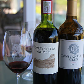 Red Wine tasting at Constantia Glen Vineyard in Constantia's Cape Winelands of South Africa - hosted by luxurywinetrails - the finest wine & food tasting tours