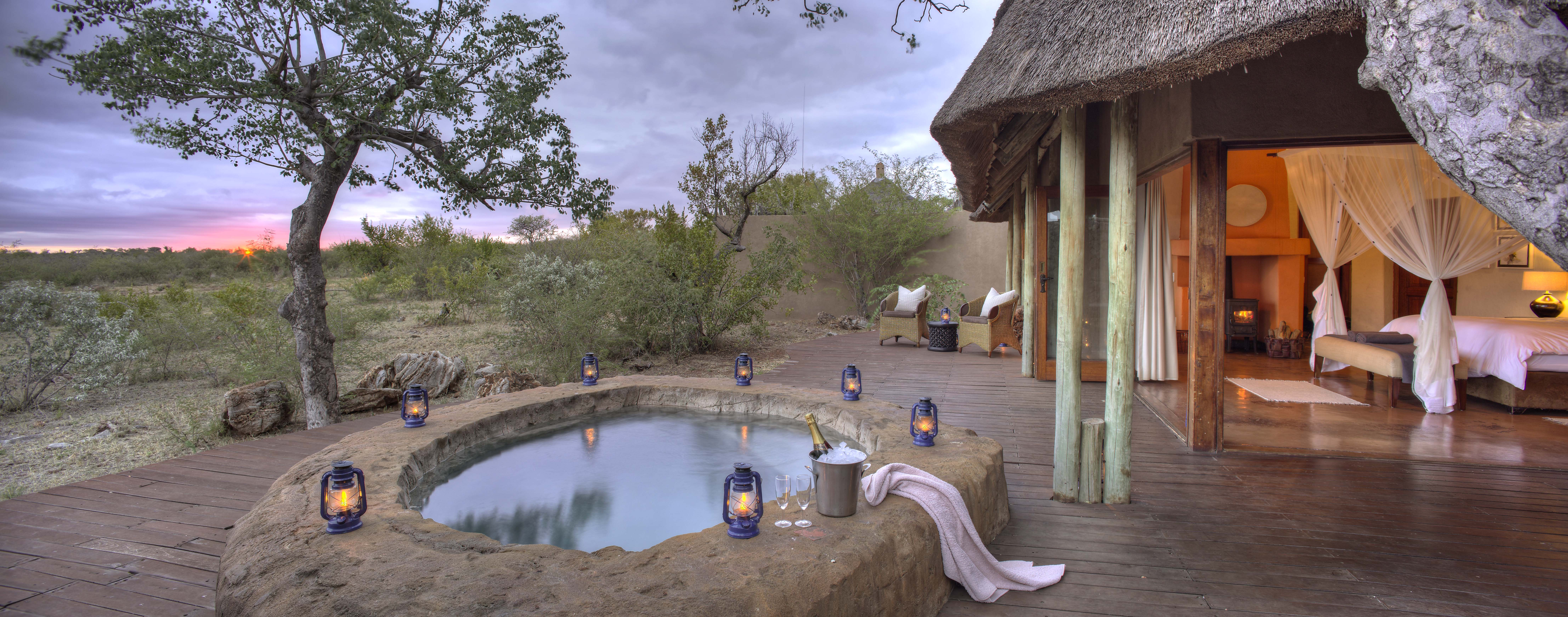 By your private pool on safari