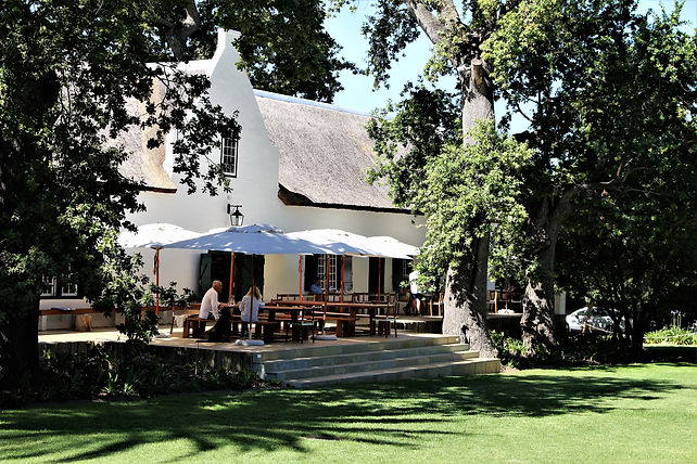 The tasting deck at Buitenverwachting Vineyard in Constantia's Cape Winelands South Africa - Luxury Wine Trails tours