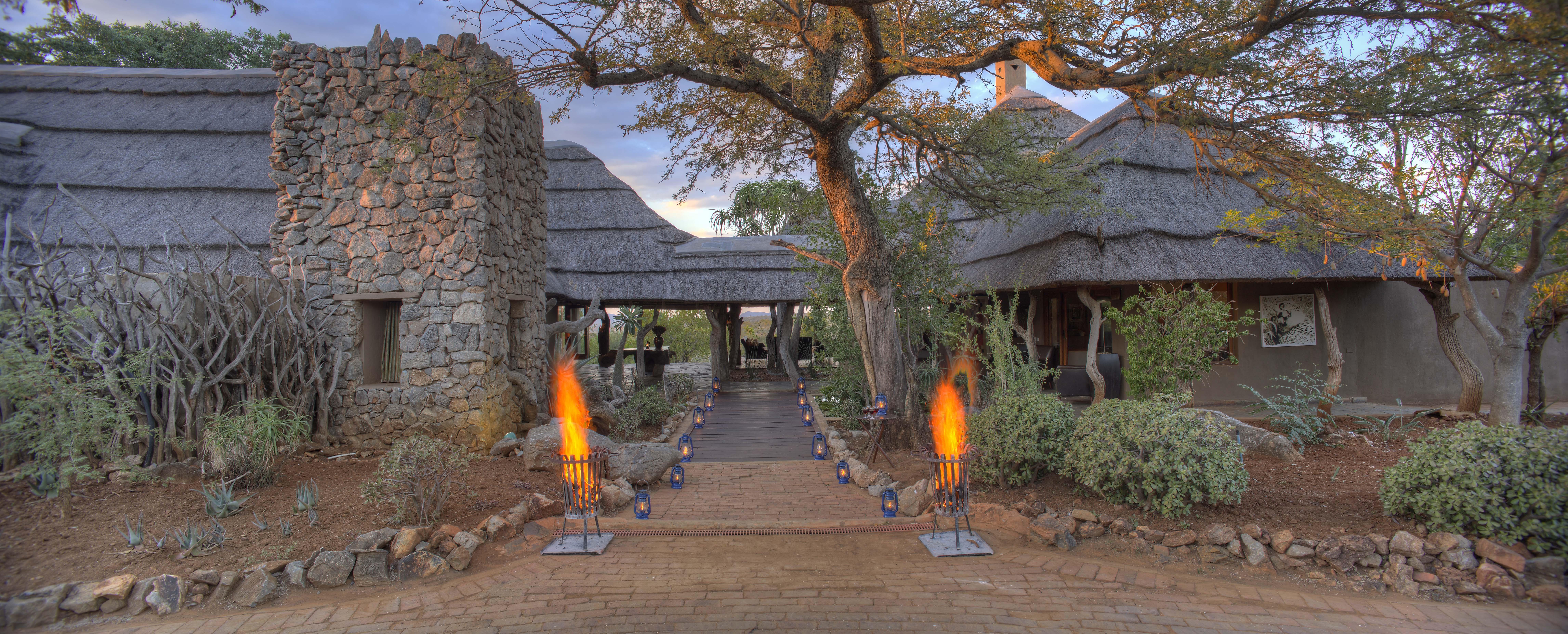 Entrance to the safari lodge