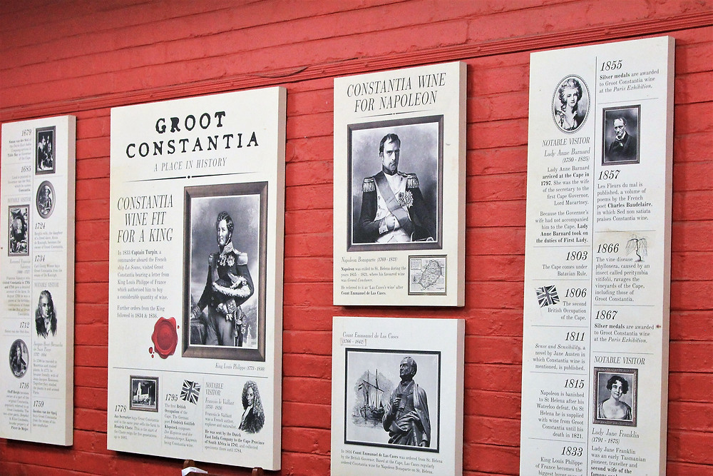 The historic Tasting Room at South Africa's Groot Constantia vineyard - by Luxury Wine Trails tours