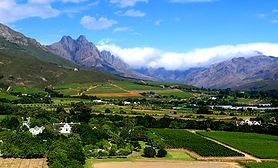 Magical views across Stellenbosch Valley from Lanzerac - Cape Winelands - South Africa - Luxury Wine Trails tours South Africa