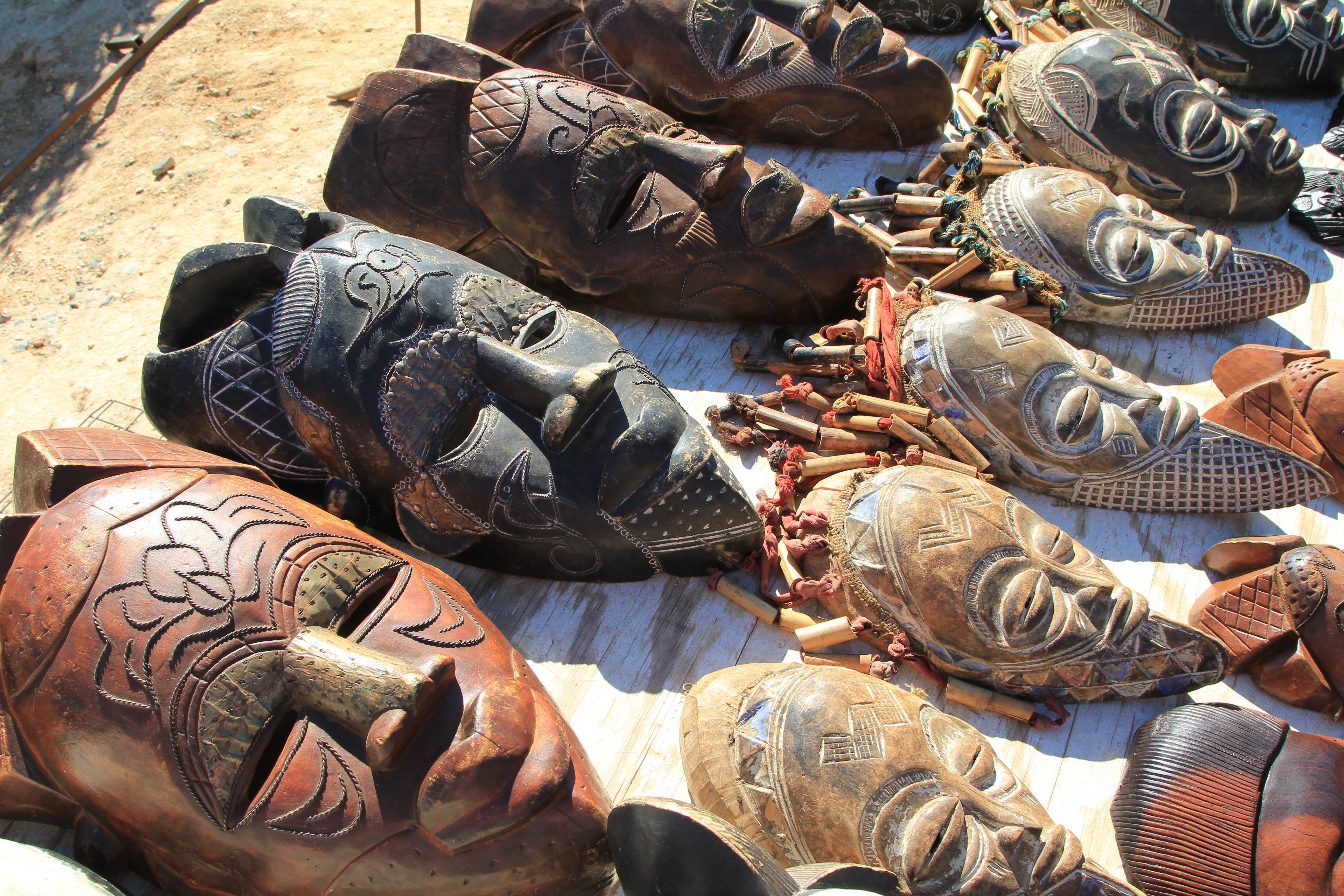 local art - tribal masks - Cape Town